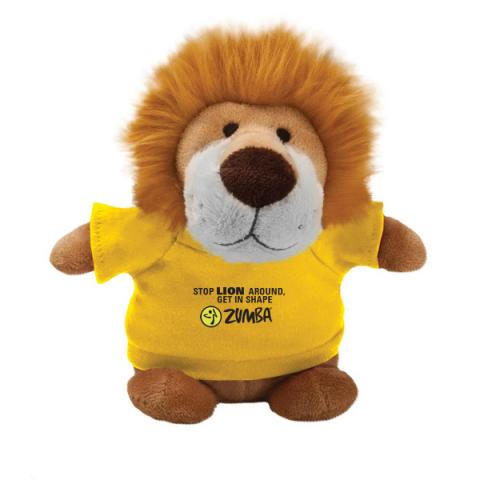 Lion stuffed animal custom logo